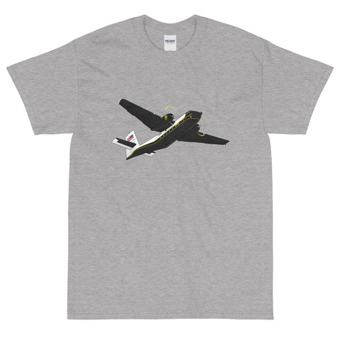 Airplane Custom T-Shirt AIR458DHC4-BLK1 - Personalized with your N#