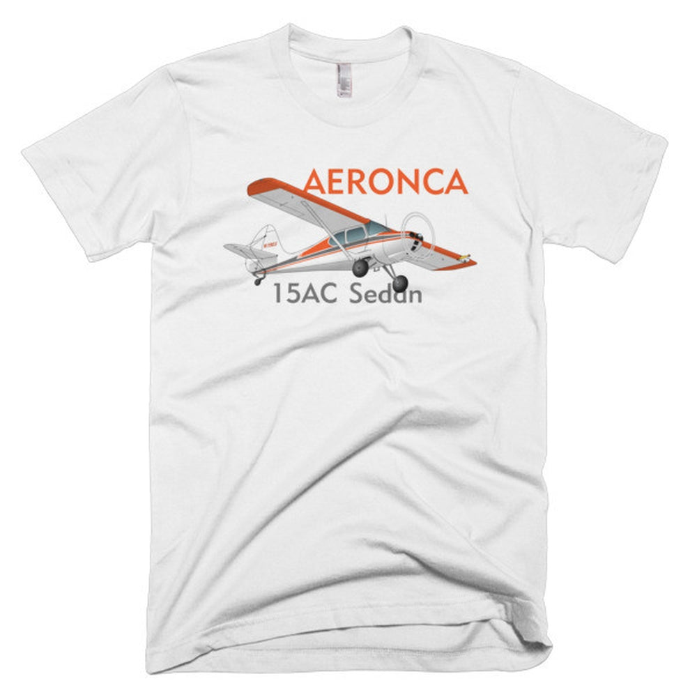 Aeronca 15AC Sedan (Orange) Airplane T-Shirt - Personalized with Your N#