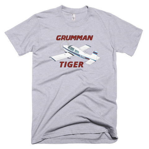 Grumman Tiger Airplane T-shirt - Personalized with Your N#