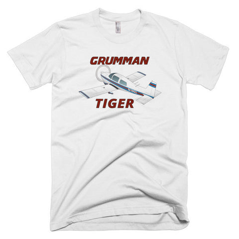 Grumman American Tiger Airplane T-shirt - Personalized with Your N#