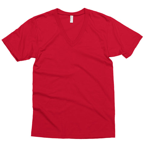 American Apparel 2456 4.3oz 100% Cotton Custom V-Neck T-Shirt