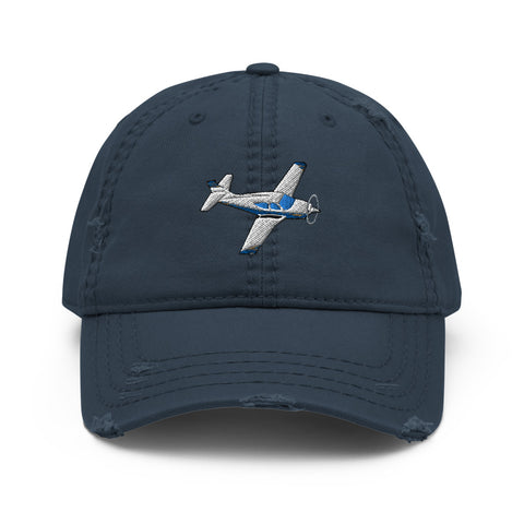 Airplane Embroidered Distressed Cap (AIRIF33FD114A-BG1) - Personalized with Your N#