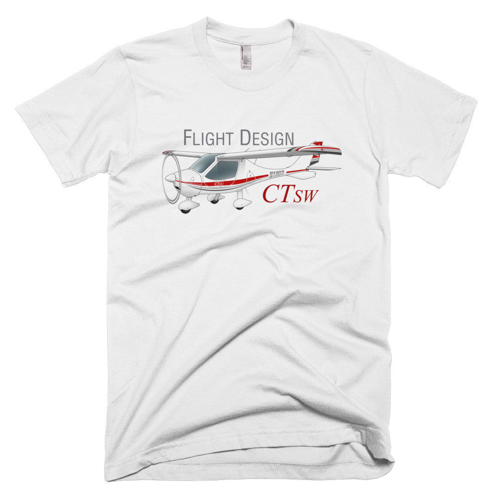 Flight Design CTSW Airplane T-shirt - Personalized with N#