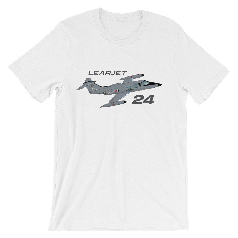 Learjet 24 Airplane T-shirt - Personalized with N#