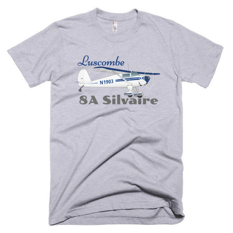 Luscombe 8A Silvaire (Blue) Airplane T-shirt - Personalized with Your N#