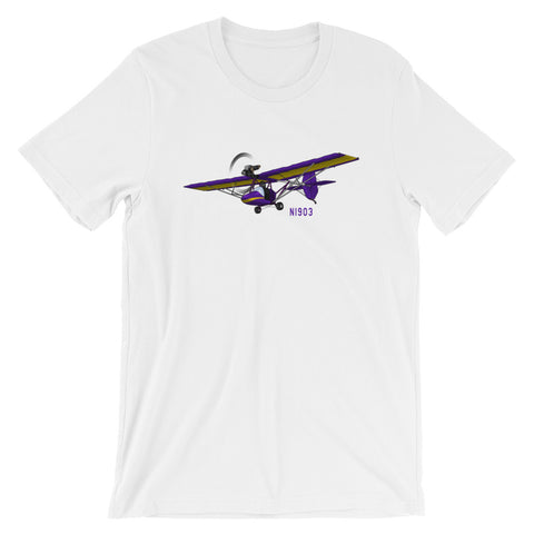 Ultra Light Airplane (Yellow/Purple) T-Shirt - AIR8LI-YP1