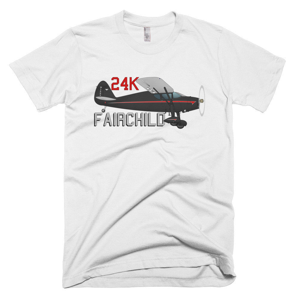 Fairchild 24K Airplane T-shirt- Personalized with N#