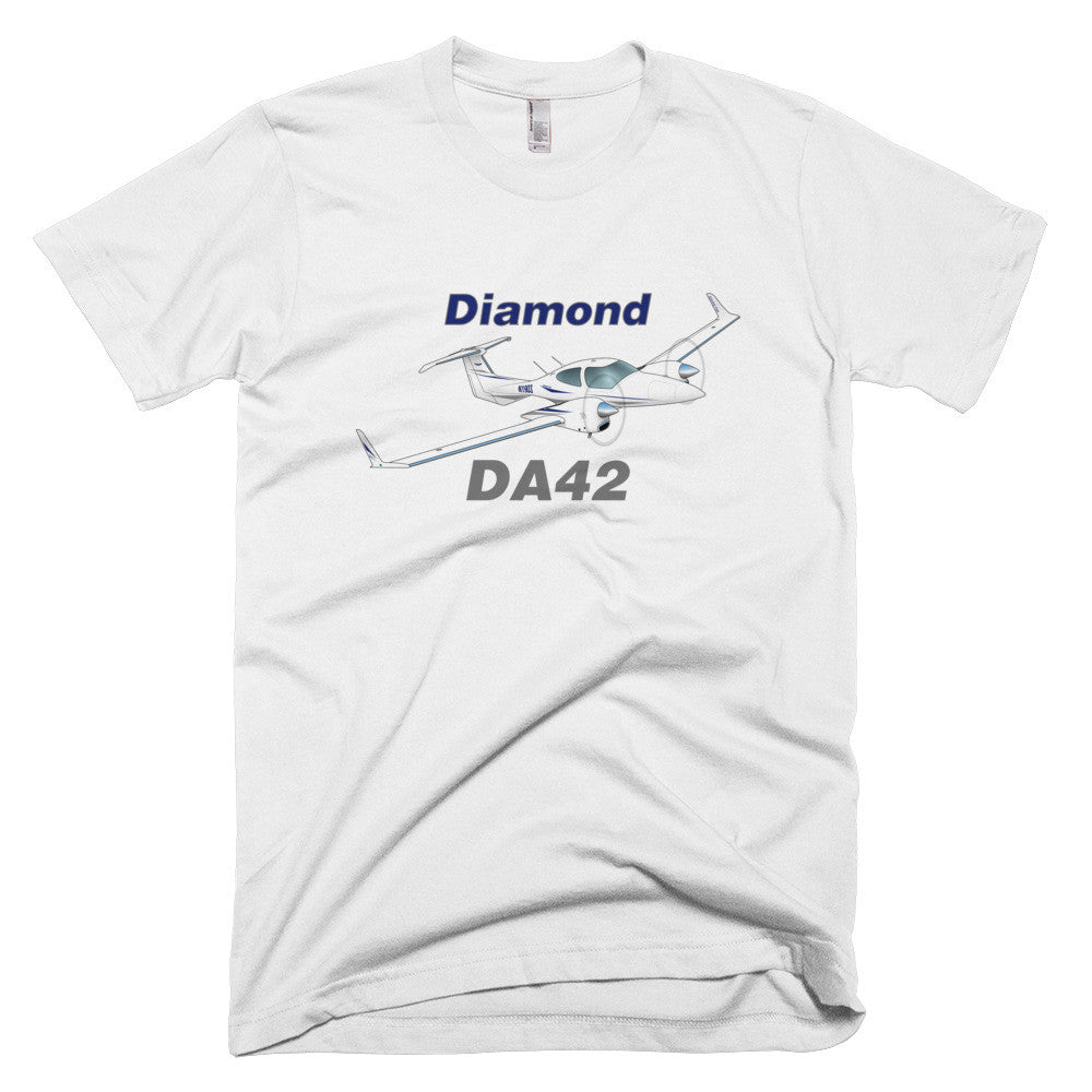 Diamond DA-42 (Blue) Airplane T-shirt - Personalized with N#