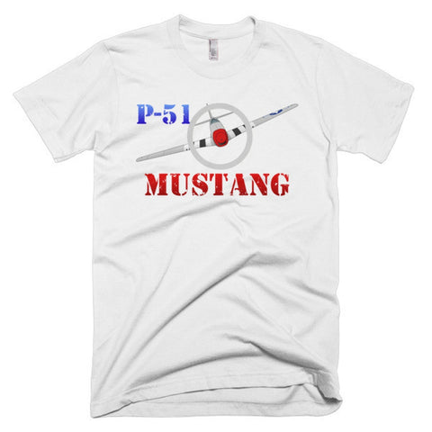 North American P-51 Mustang Airplane T-shirt - Personalized with Your N#