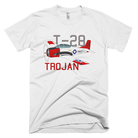 North American T-28 Trojan Airplane T-shirt- Personalized with N#
