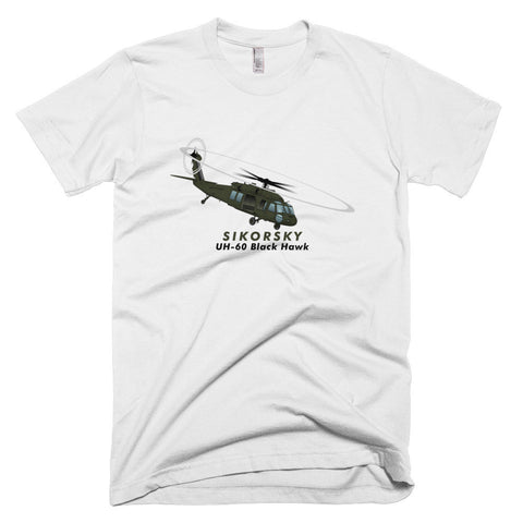 Sikorsky UH-60 Black Hawk Airplane T-shirt - Personalized with N#