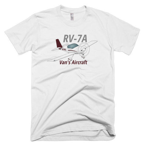 Van's Aircraft RV-7A (RV7A) Airplane T-Shirt - Personalized with Your N#