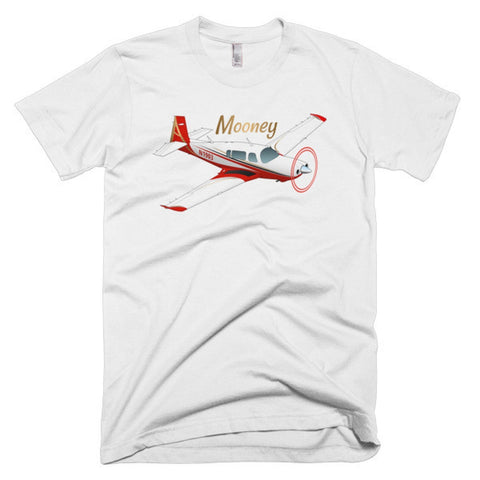 Mooney (Red) Airplane T-shirt - Personalized with Your N#