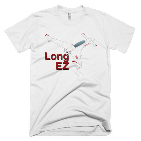 Rutan Model 61 Long-EZ Airplane T-Shirt - Personalized with Your N#