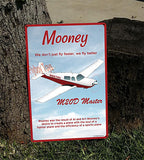 Mooney M20D Master HD Airplane Sign - Maroon