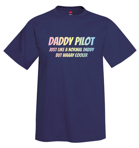 Daddy Pilot Airplane Aviation T-Shirt