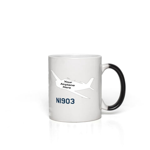 Custom Aviation Ceramic Magic Mug - Personalized w/ your Airplane