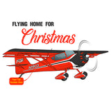 Flying Home for Christmas Airplane T-Shirt - AIRB9K4SPEED-R2 - Personalized w/ N#
