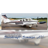 Beechcraft Bonanza A36 Blue Black model