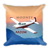 Mooney M20K Airplane Custom Throw Pillow Case Stuffed & Sewn