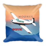 Mooney M20E Airplane Custom Throw Pillow Case Stuffed & Sewn