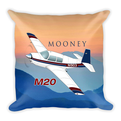 Airplane Custom Throw Pillow Case Stuffed & Sewn