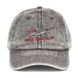 Super Decathlon Airplane Embroidered Vintage Hat (AIR453JLG-R5) - Add your N#