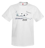 "The Learjet 55 ""Longhorn"" Airplane T-Shirt - Personalized with Your N#"