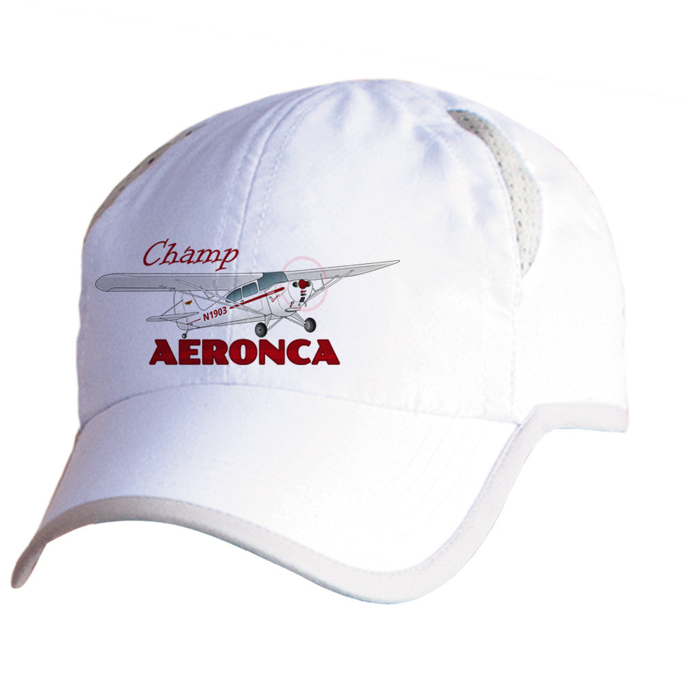 Aeronca Champ (Red) Airplane Pilot Hat - Personalized with N#