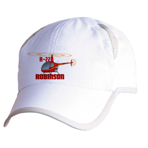 Robinson R22 (Red) Helicopter Pilot Hat - Personalized with N#