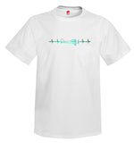 Heartbeat Plane Side View Airplane Aviation T-Shirt