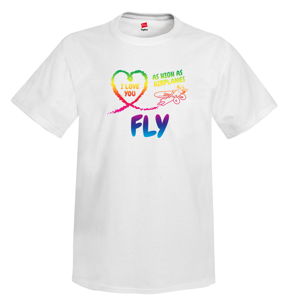 I Love You Airplane Aviation T-Shirt