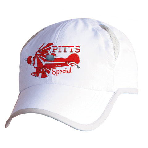 Pitts Special (Red) Airplane Pilot Hat - Personalized with N#