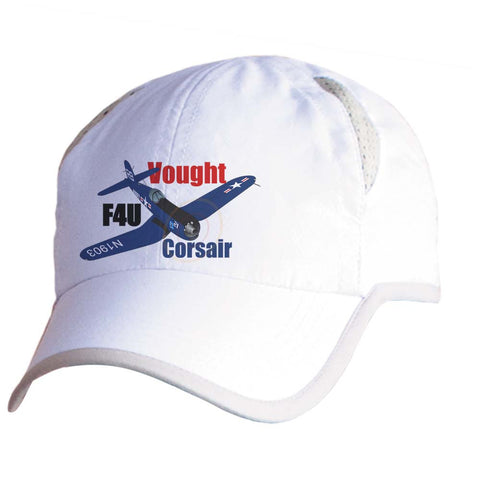Vought F4U Corsair U.S. Navy Airplane Pilot Hat - Personalized with N#