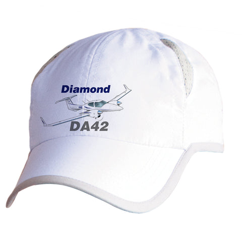Diamond DA-42 (Blue) Airplane Pilot Hat - Personalized with N#