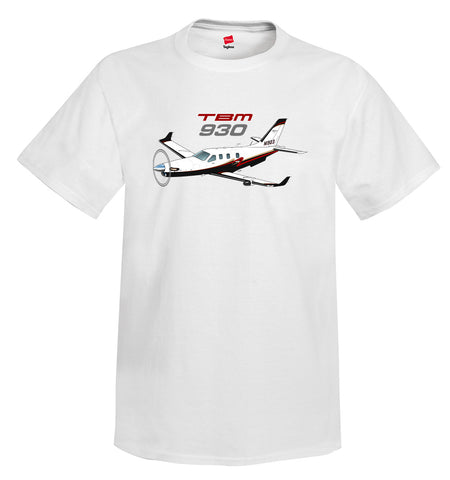 Socata TBM 930 Airplane T-Shirt - Personalized with Your N#