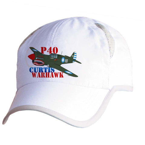 Curtis P-40 Warhawk Airplane Pilot Hat - Personalized with N#