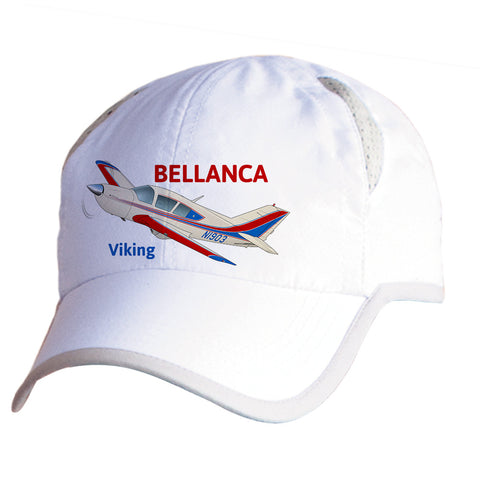 Bellanca 17-30A Viking (Red/Blue) Airplane Pilot Hat - Personalized with N#