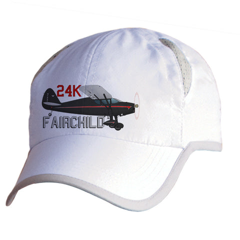 Fairchild 24K Airplane Pilot Hat - Personalized with N#