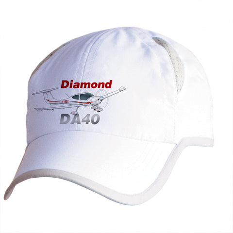 Diamond DA-40 Airplane Pilot Hat - Personalized with N#