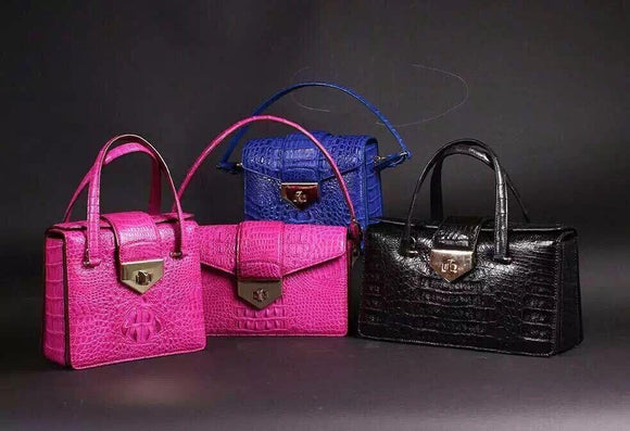 Women's Crocodile Skin Leather Handbags