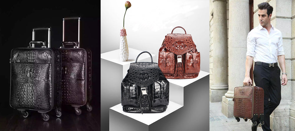 Exotic skin Crocodile leather Luggages,Bags