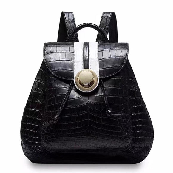 Crocodile  Belly Leather Women's Backpack