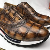 CROCODILE Burnished Sports Shoes Leisure Men's Shoes