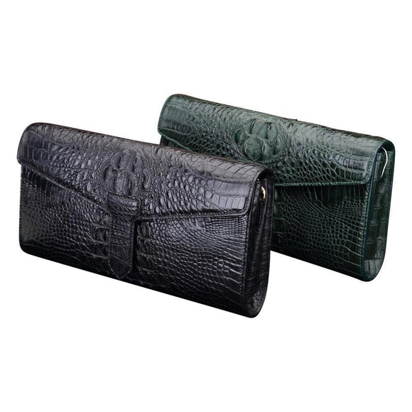 Crocodile Leather Clutches ,Shopping Bag ,Evening Clutch