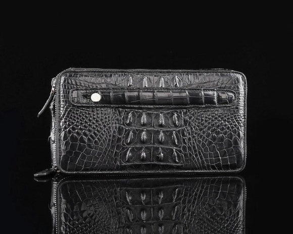 Crocodile  Leather Multi-Function Large Volumn Credit Card Clutch Wallet Bags