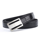 Crocodile Skin Belly Leather Belt 4220