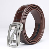 Crocodile Skin Belly Leather Belt 4235