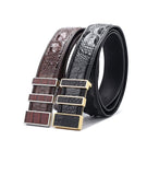 Crocodile Skin Leather Belt 3210