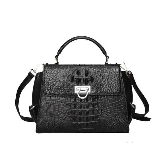 Crocodile Skin  Leather Top Handle Satchel Bags